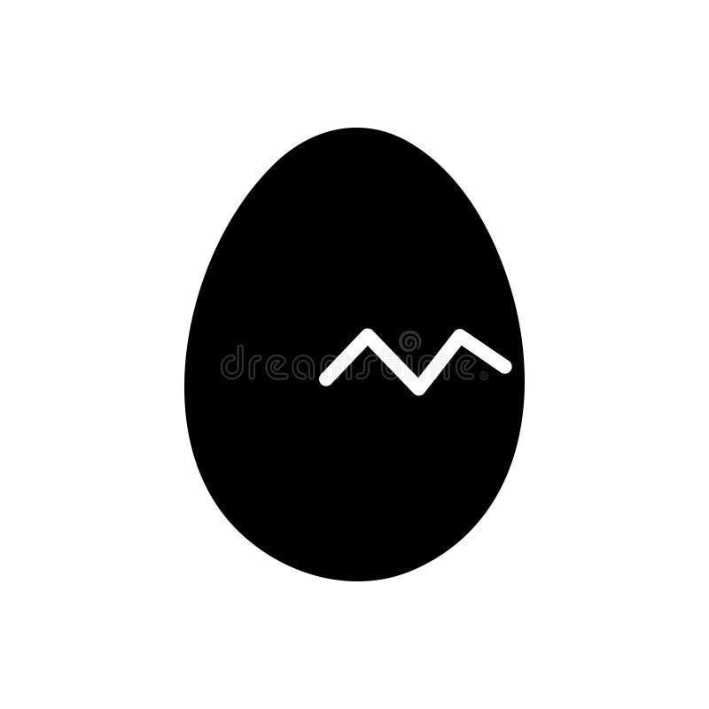 Svart fast symbol för att komma snart, skilsmässa och brutet vektor illustrationer