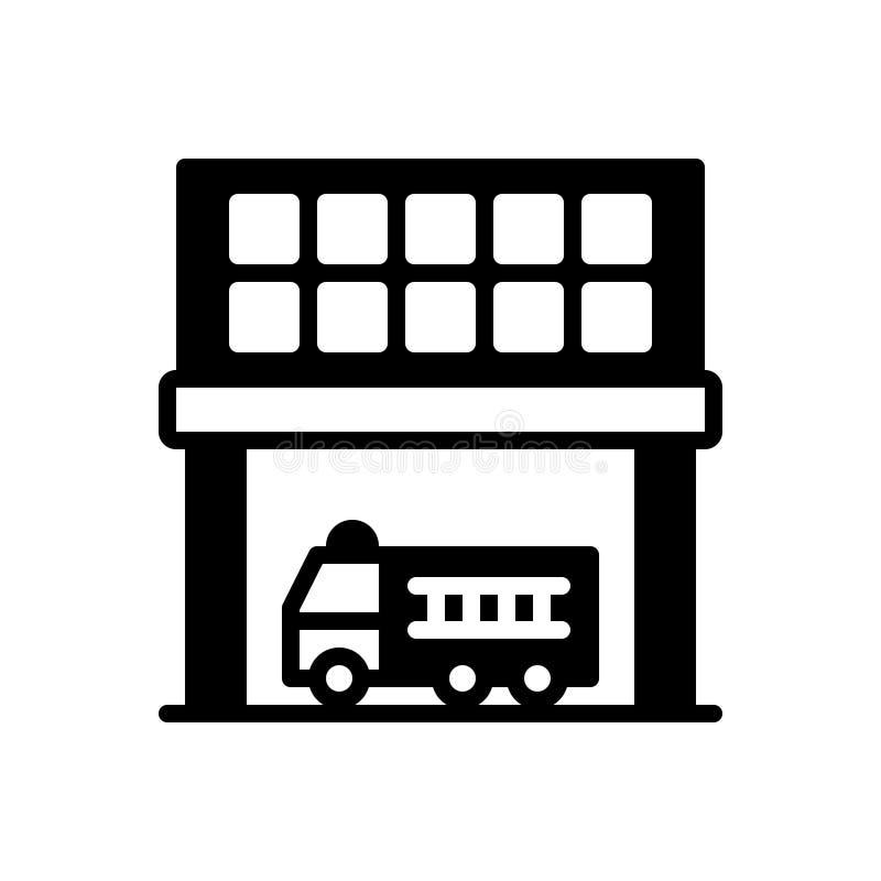 Svart fast symbol för avdelning, uppdelning och sektor stock illustrationer