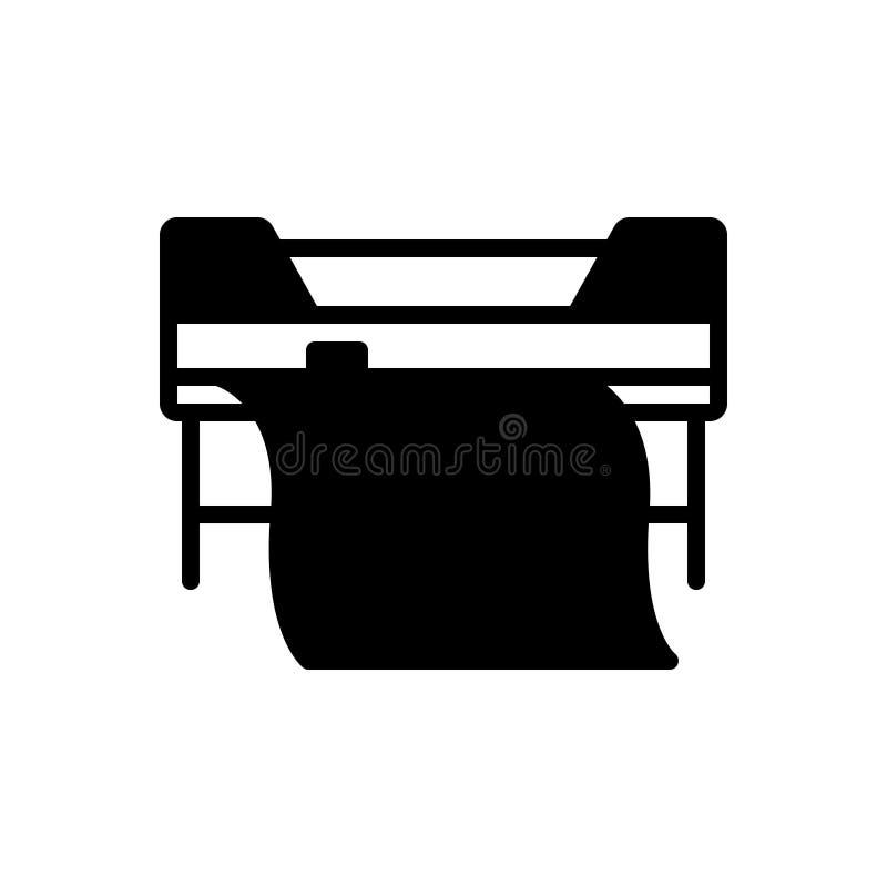 Svart fast symbol för beställnings- utskrift, skrivare och copierprinter royaltyfri illustrationer