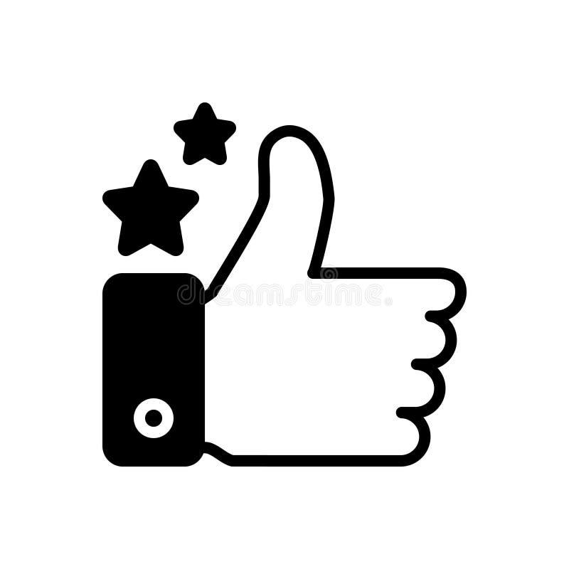 Svart fast symbol för bra jobb, som och godkännande vektor illustrationer