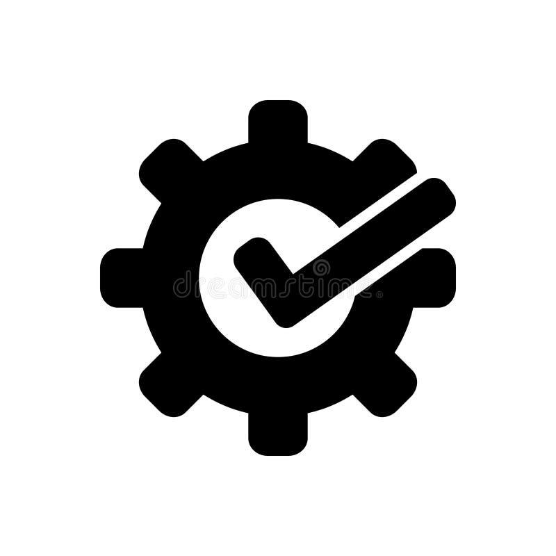 Svart fast symbol för Customizable, böjligt och beställnings- royaltyfri illustrationer