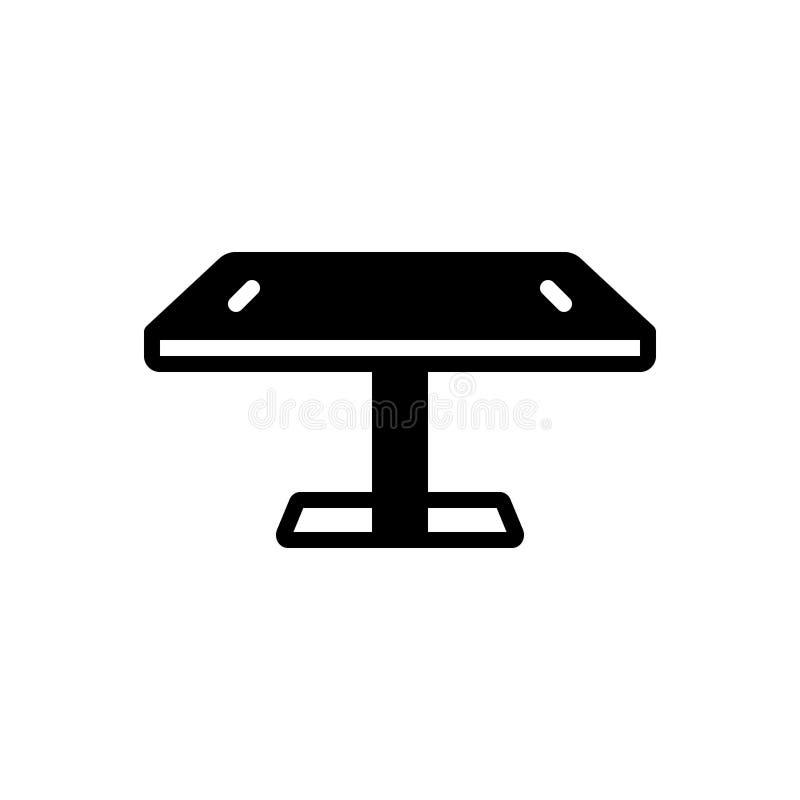 Svart fast symbol för den Digital tabellen, skrivbordet och elektroniskt vektor illustrationer