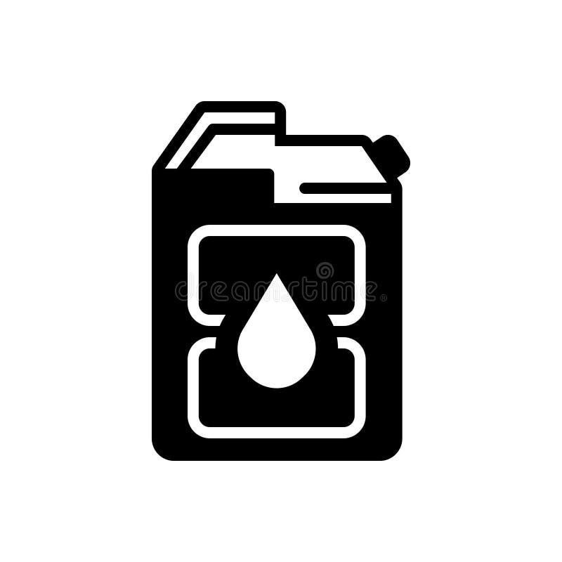 Svart fast symbol för diesel, bränsle och bensin stock illustrationer
