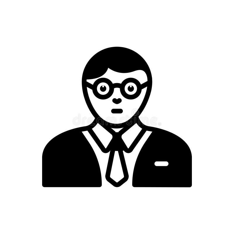 Svart fast symbol för expert, specialist och kännare royaltyfri illustrationer