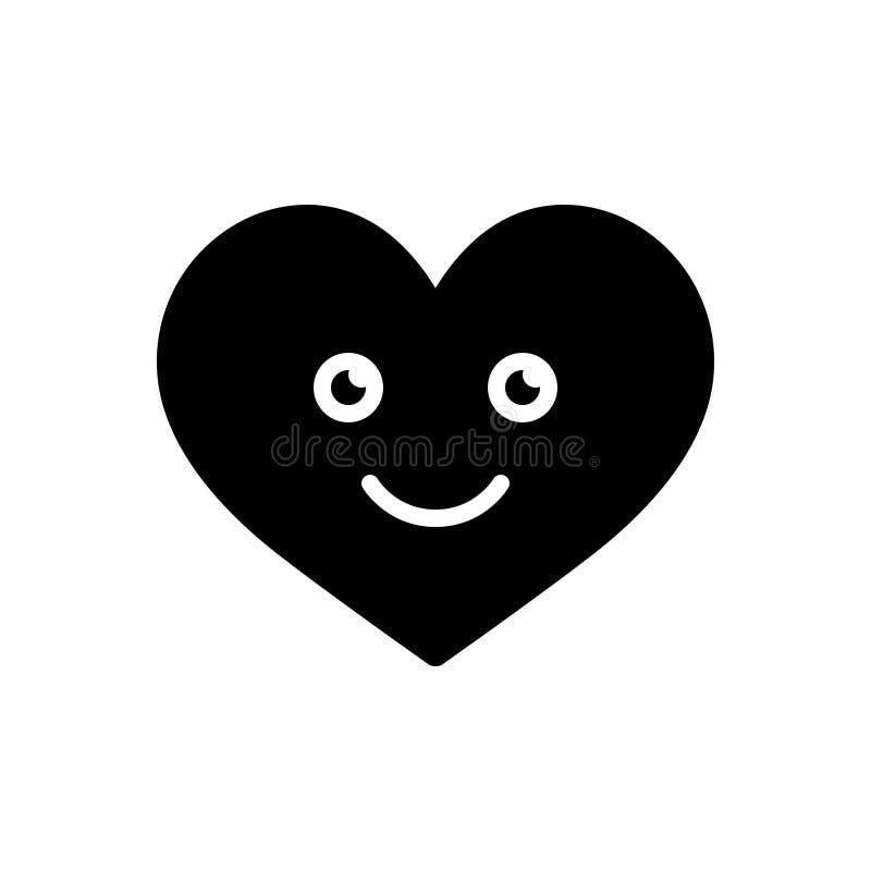 Svart fast symbol för förälskelse, affektion och kamratskap royaltyfri illustrationer