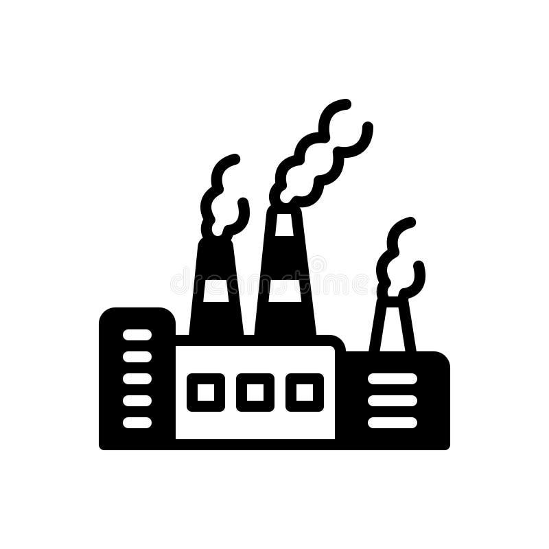 Svart fast symbol för föroreningar, förorening och förorenat vektor illustrationer