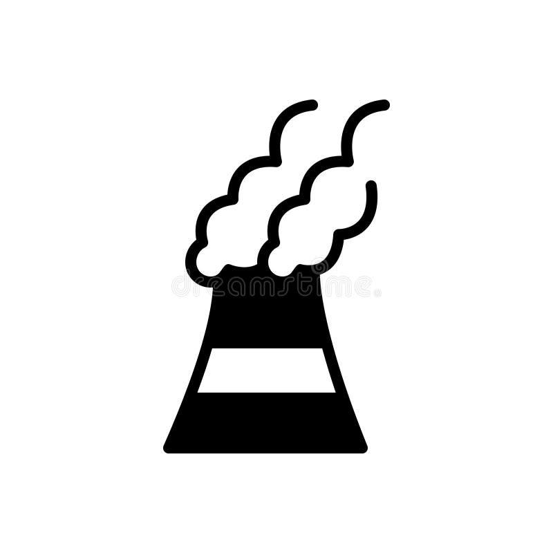 Svart fast symbol för föroreningar, förorening och förorenat royaltyfri illustrationer