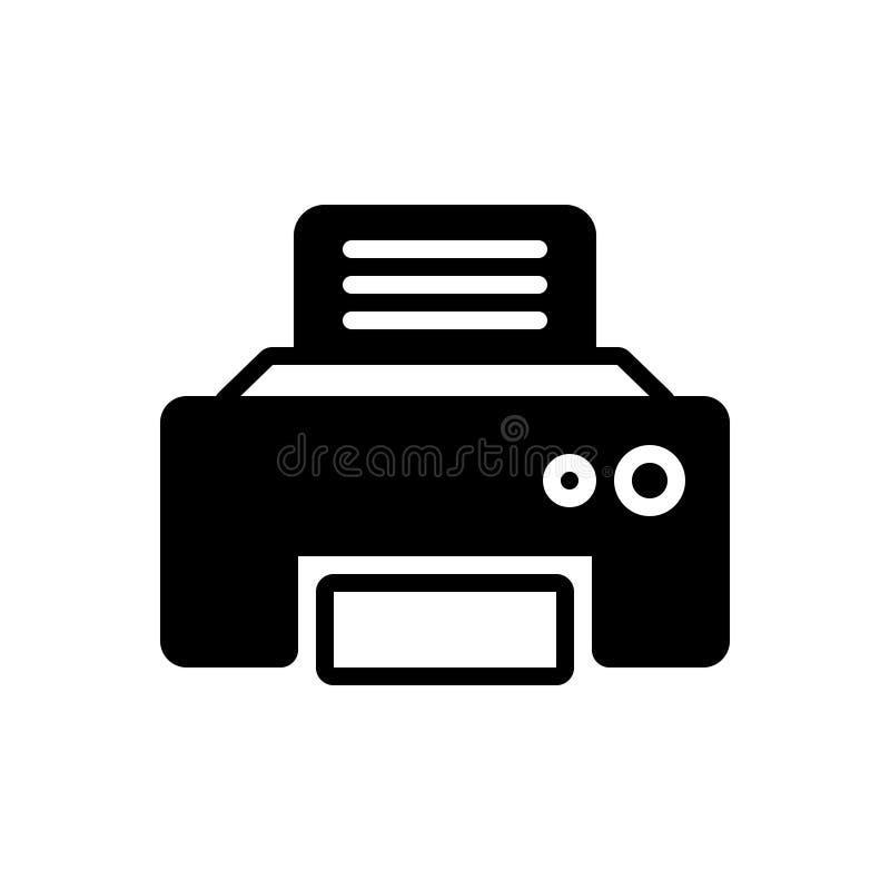 Svart fast symbol för Fax Message, telekommunikationer och teknologier stock illustrationer