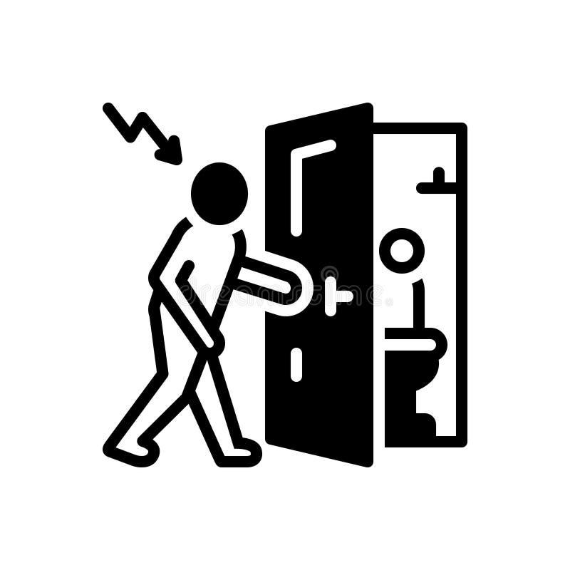 Svart fast symbol för fientligt infall, invasion och agression stock illustrationer