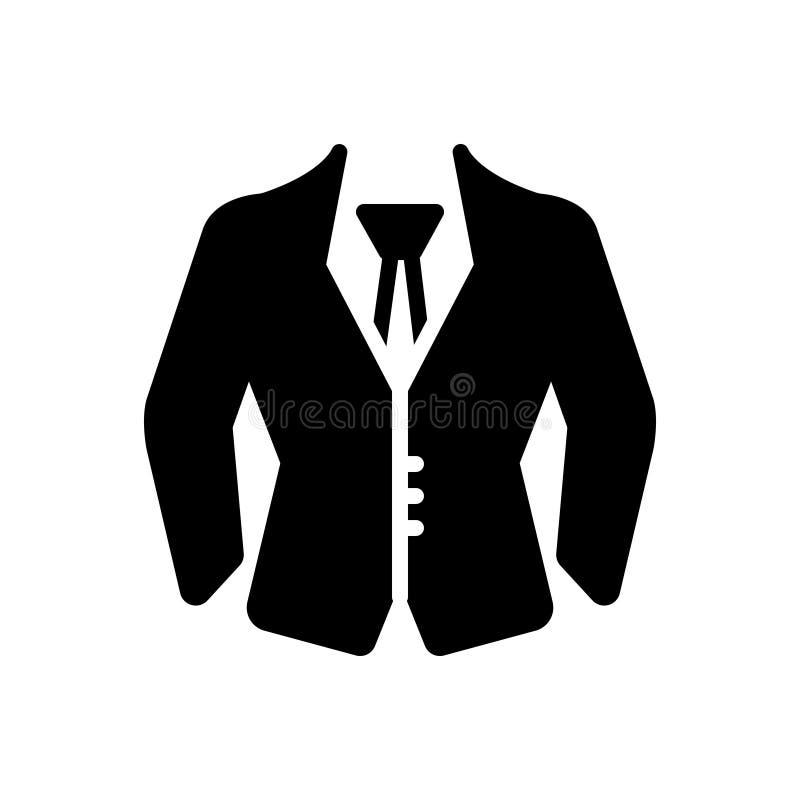 Svart fast symbol för formella kläder, likformig och dräkt stock illustrationer