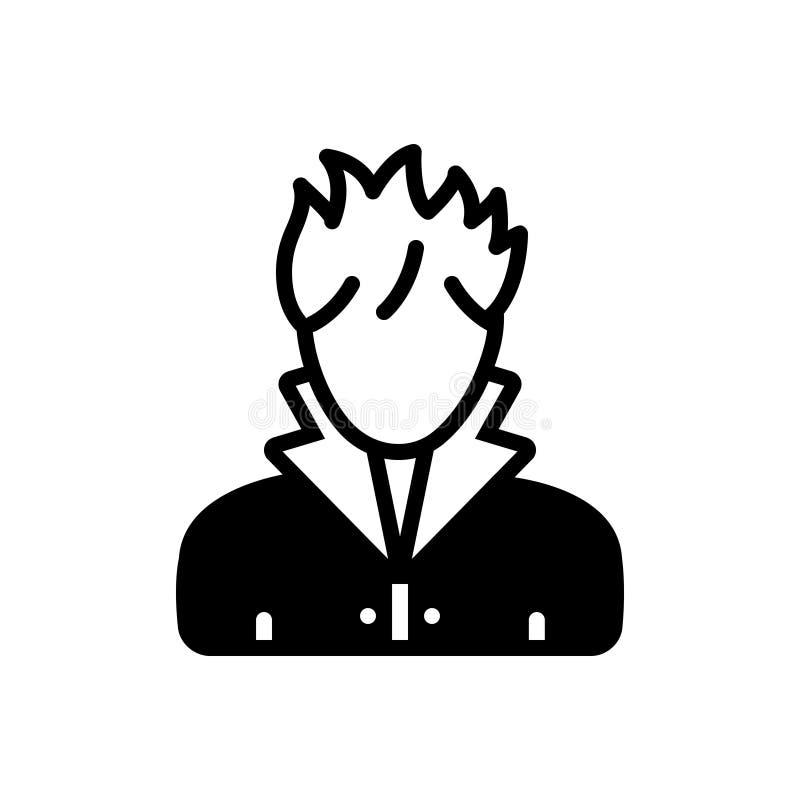 Svart fast symbol för hårstylist, barberare och frisering vektor illustrationer