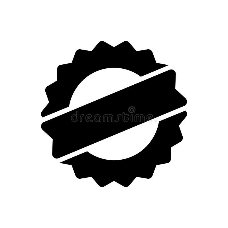 Svart fast symbol för högvärdig kvalitet, garanti och godkännande stock illustrationer