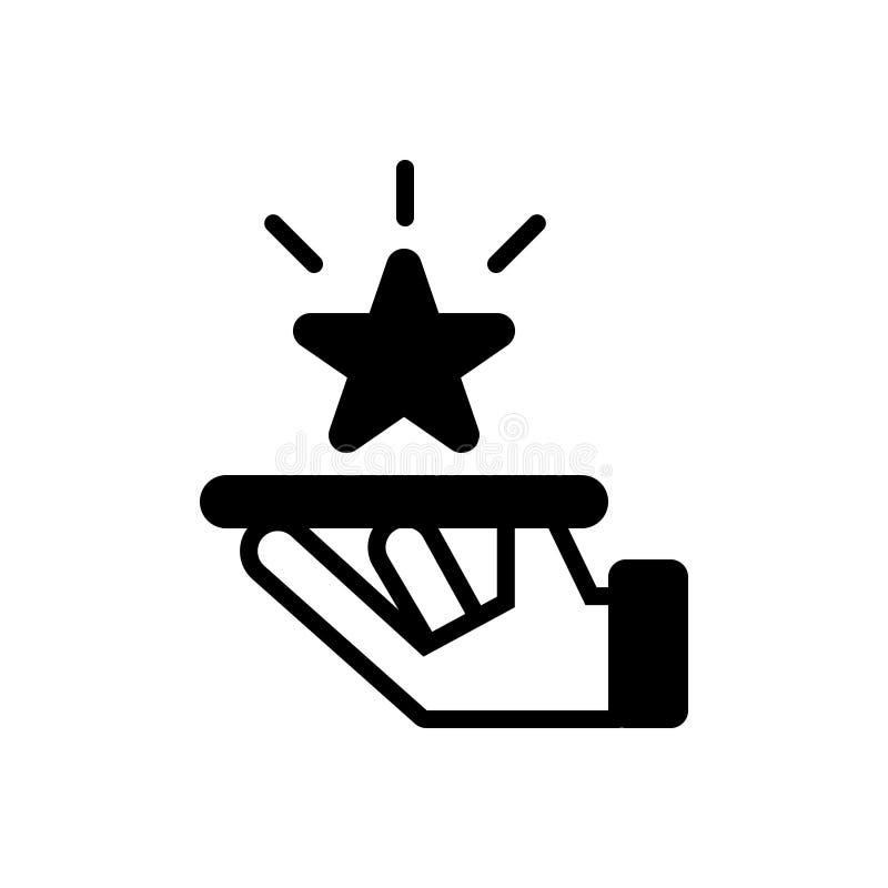 Svart fast symbol för högvärdig service, behörighet och erfarenhet royaltyfri illustrationer