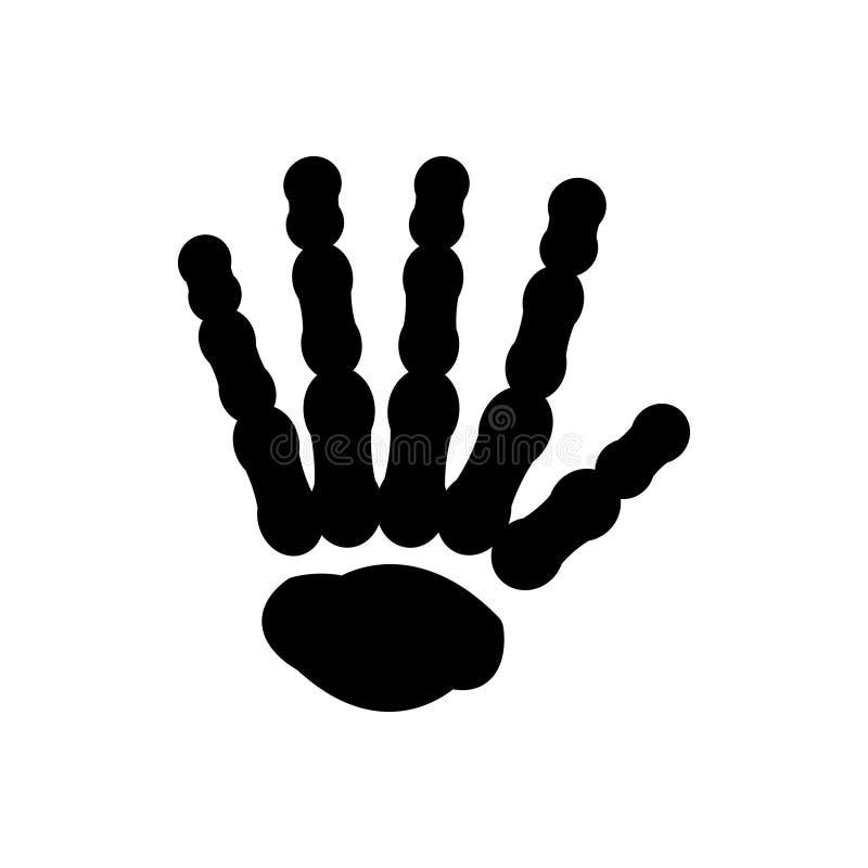 Svart fast symbol för handben, ben och skelett royaltyfri illustrationer