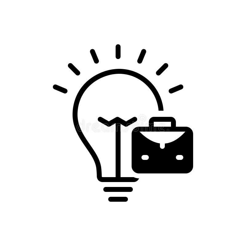 Svart fast symbol för Handel-idé, begrepp och lösning stock illustrationer