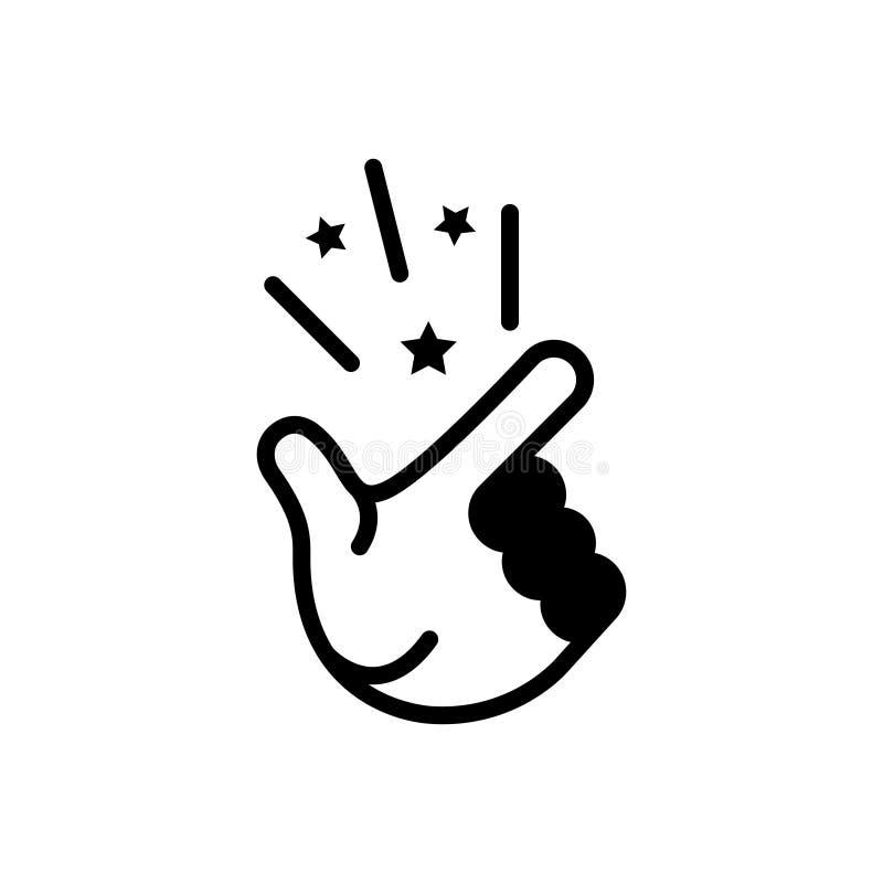 Svart fast symbol för lätt, enkelt och obesvärat vektor illustrationer