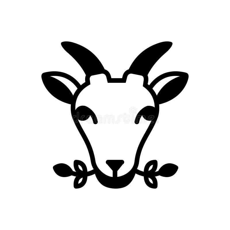 Svart fast symbol för Masticate, örter och att tugga royaltyfri illustrationer
