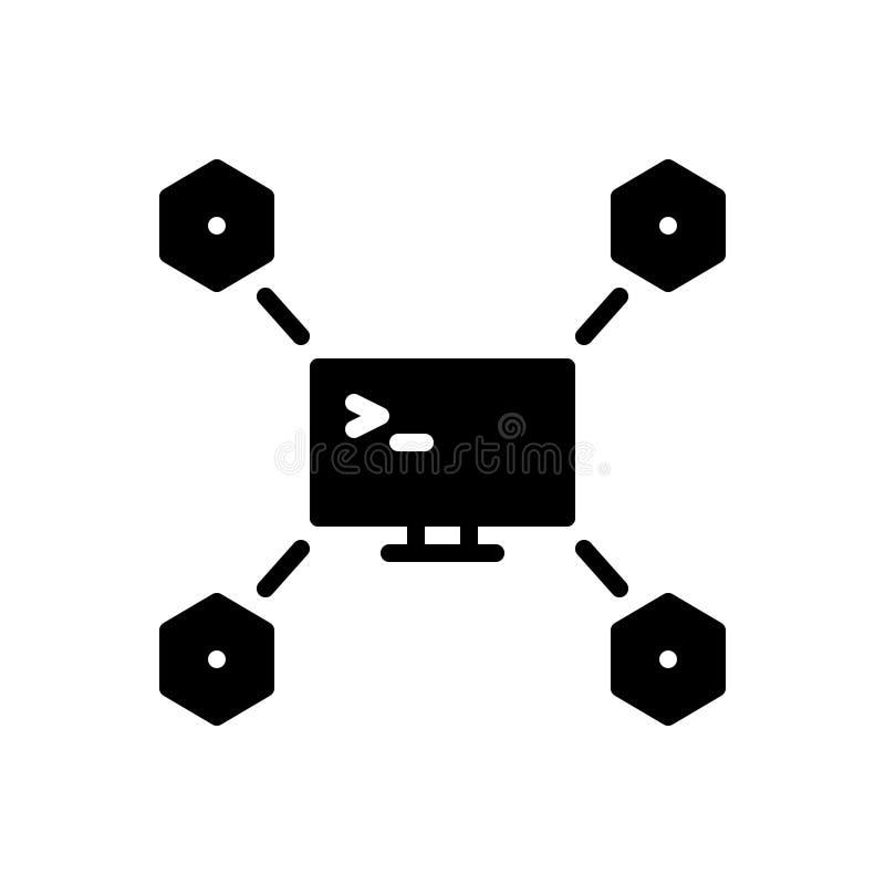 Svart fast symbol för Maven, app och expert royaltyfri illustrationer