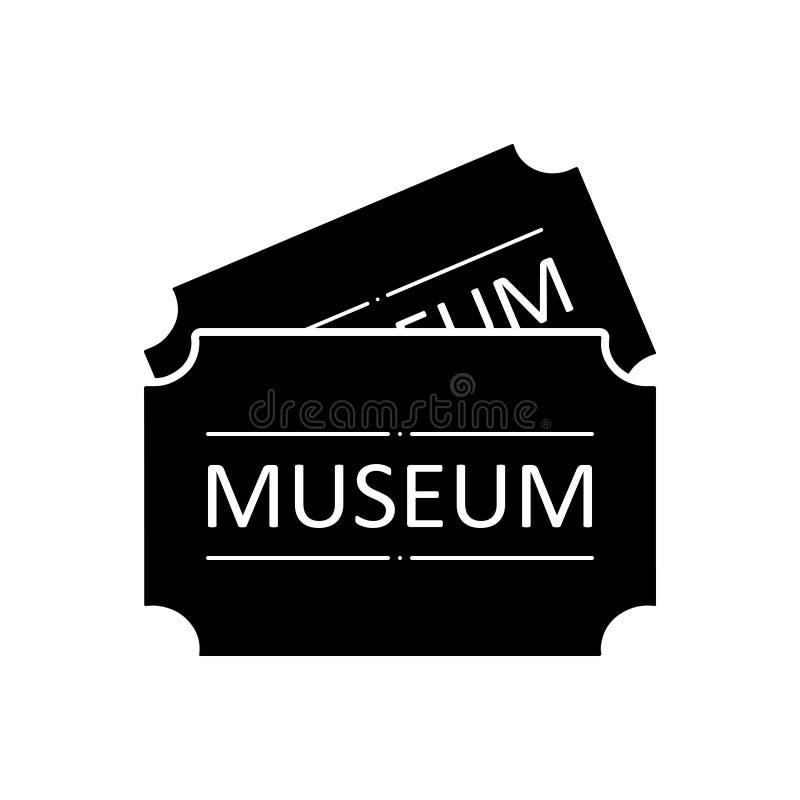 Svart fast symbol för museumetikett, antikvitet och pris vektor illustrationer