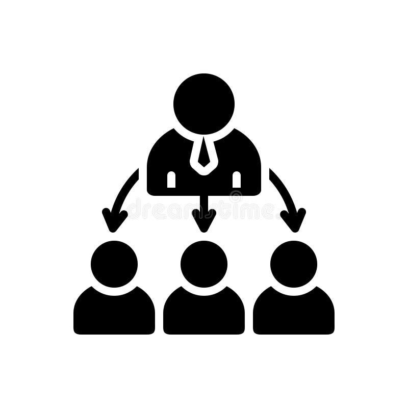 Svart fast symbol för organiserat, konsoliderat och organiskt vektor illustrationer