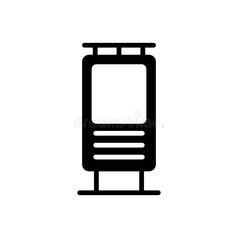Svart fast symbol för placeringen för annonser, baner och mallar vektor illustrationer