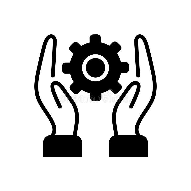 Svart fast symbol för praktiskt, jordiskt och lek vektor illustrationer