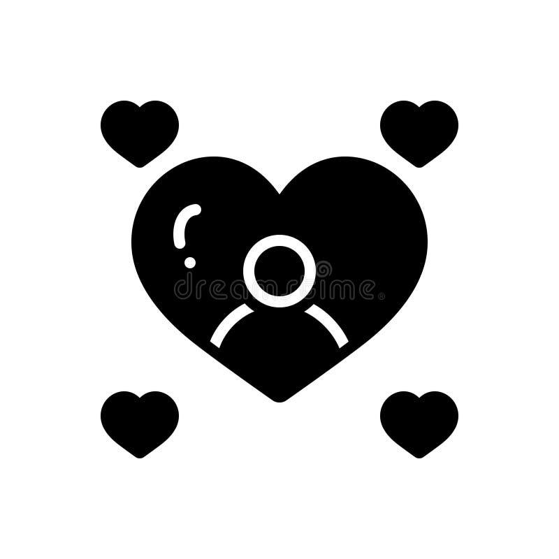 Svart fast symbol för sött, sött och ljuvt royaltyfri illustrationer