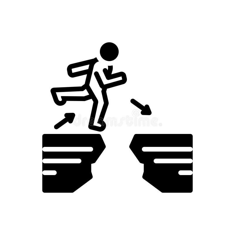 Svart fast symbol för svårigheter, skillnad och skillnad vektor illustrationer