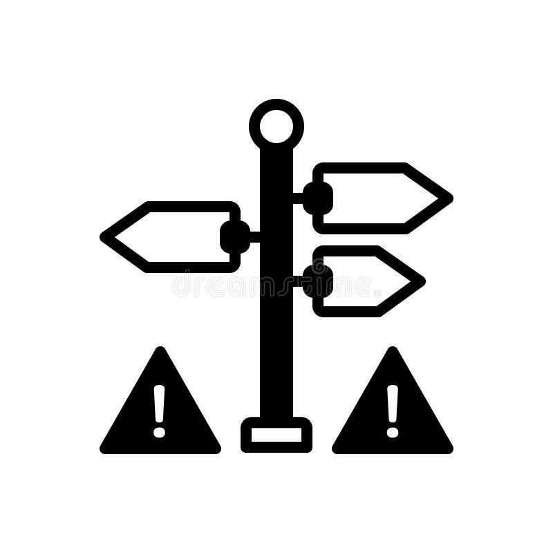Svart fast symbol för tecken, indikering och gest stock illustrationer
