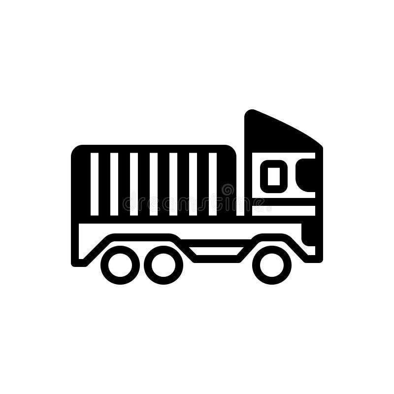 Svart fast symbol för trans., transport och vagn stock illustrationer