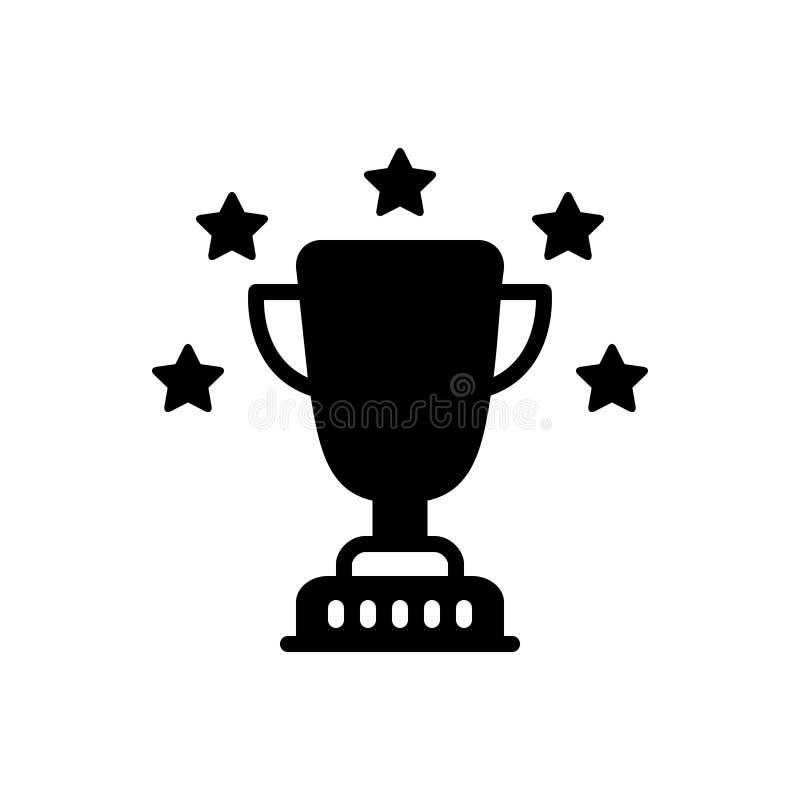 Svart fast symbol för utmärkelse, optimalt och utmärkt royaltyfri illustrationer