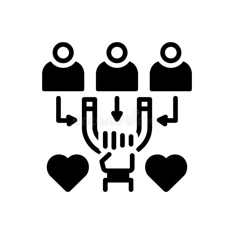 Svart fast symbol f?r attraktivt, frestande och f?rf?riskt royaltyfri illustrationer