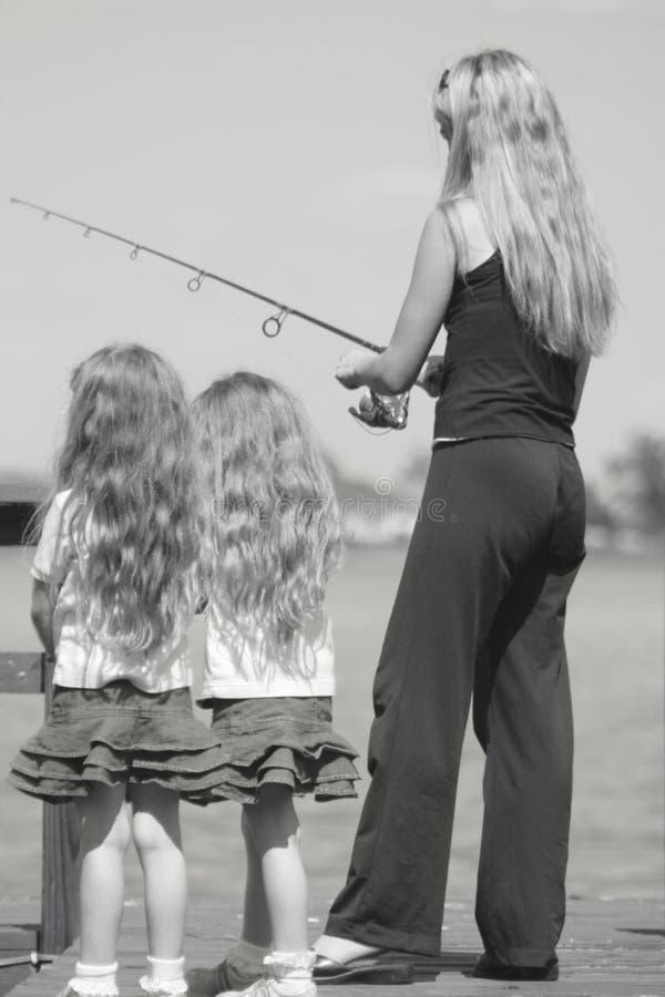 svart fiske lurar moderwhite royaltyfri bild