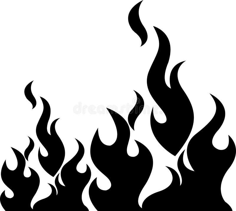 Svart flamma stock illustrationer