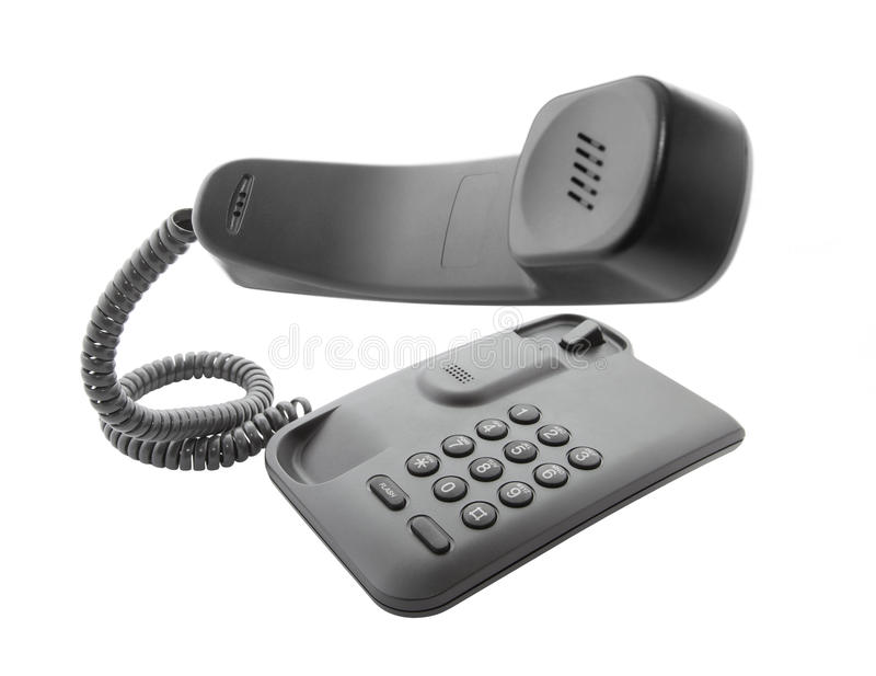 svart flottörhus telefonlurtelefon royaltyfria bilder