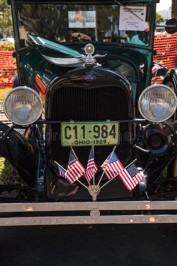 Svart Ford Pickup 1929 p royaltyfria foton