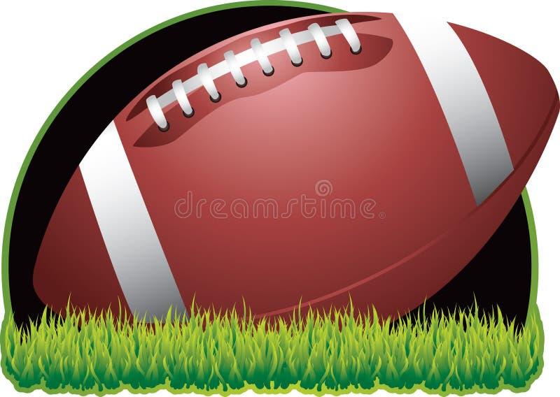 svart fotboll för bakgrund royaltyfri illustrationer