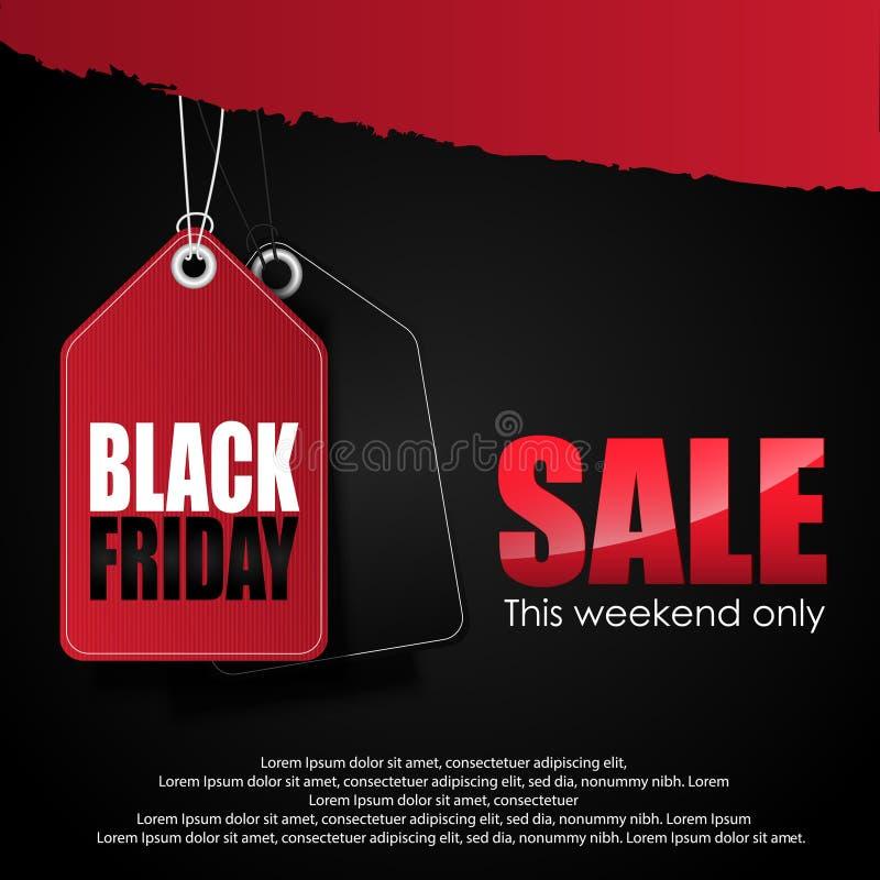 svart friday försäljning stock illustrationer