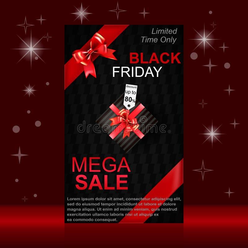 svart friday försäljning royaltyfri illustrationer