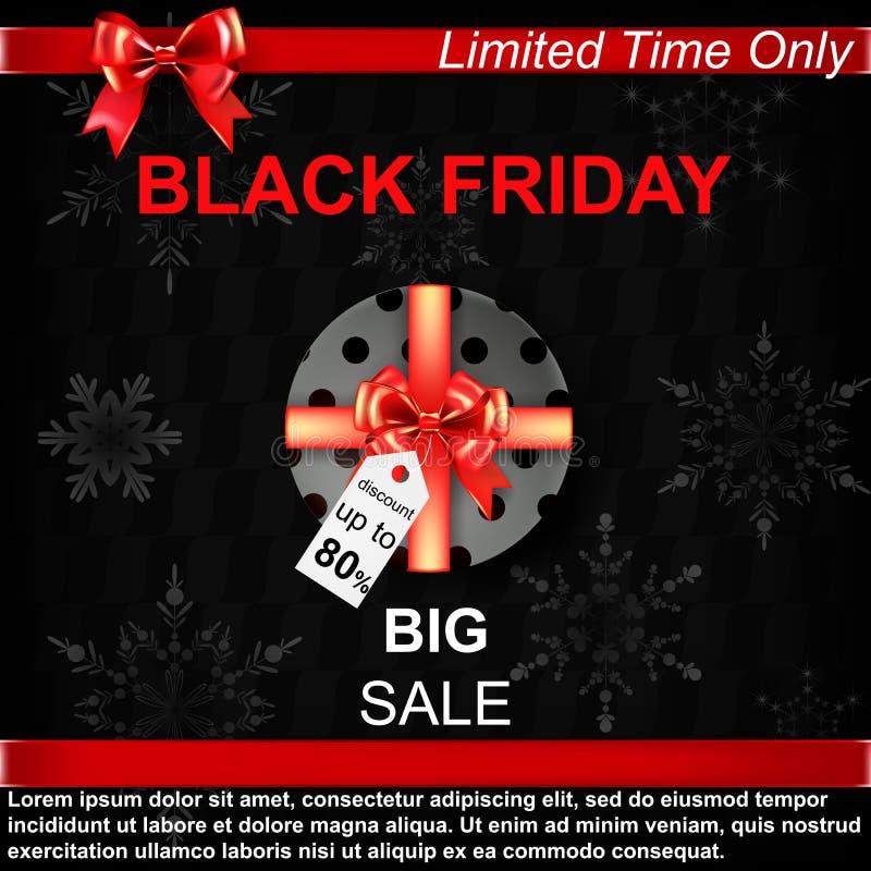 svart friday försäljning vektor illustrationer