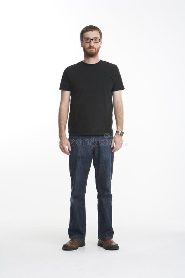 svart full längdskjorta arkivbild