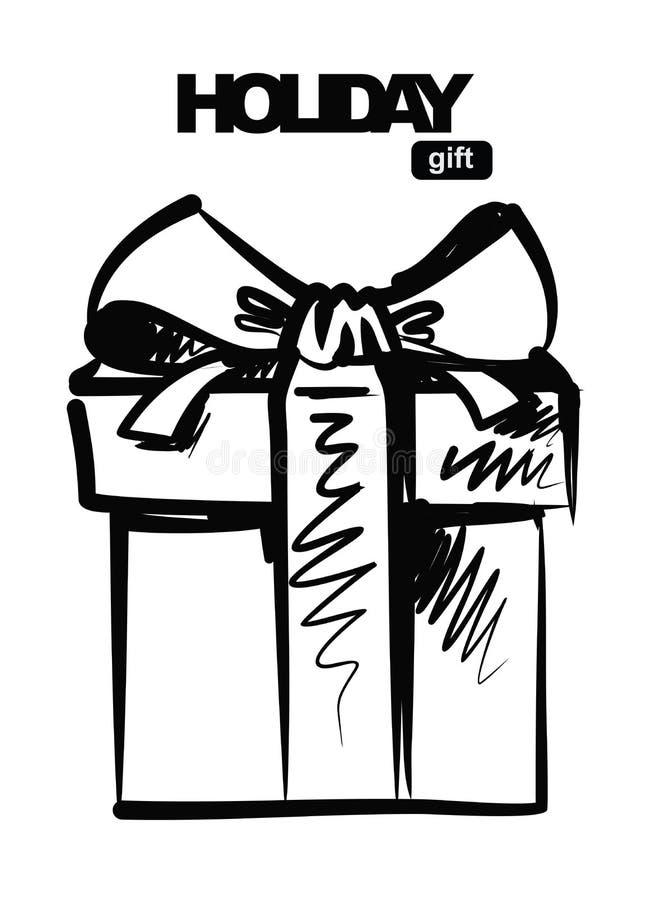 Svart gåva vektor illustrationer