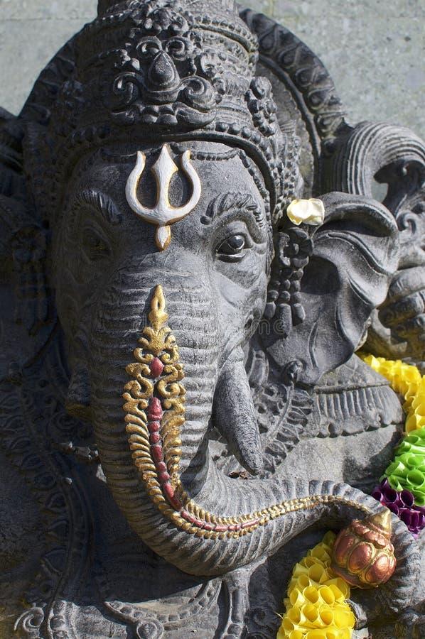 Svart Ganesha stenstaty royaltyfri foto