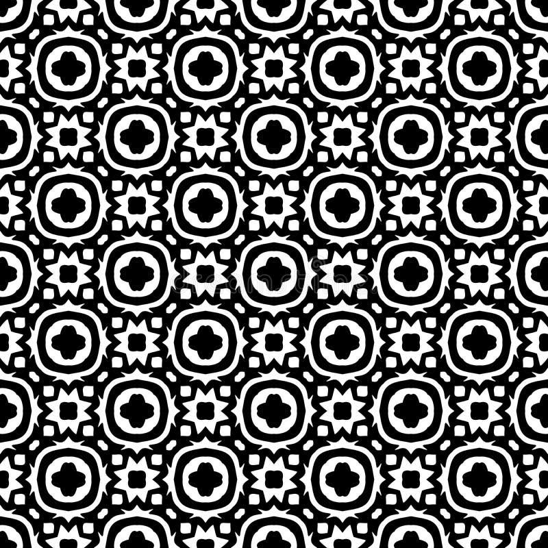 Svart GEOMETRISK sömlös modell i vit bakgrund vektor illustrationer