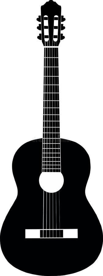 Svart gitarrwhite