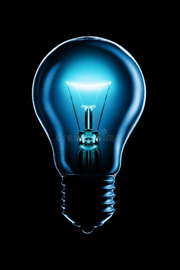 svart glödande lampa royaltyfria foton