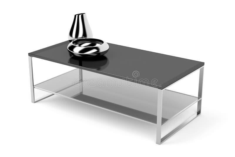 Svart glass kaffetabell vektor illustrationer