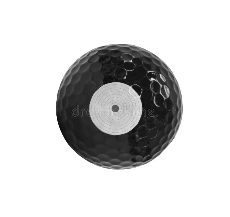 Svart golfboll isolerade royaltyfria bilder