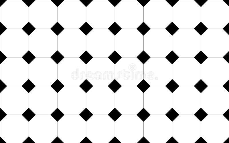svart golv belagd med tegel white royaltyfri illustrationer