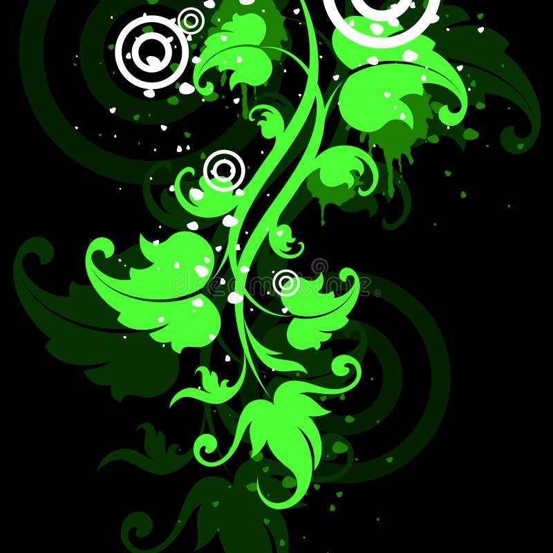 svart grön vine vektor illustrationer